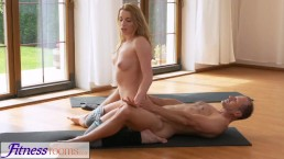 FitnessRooms Yoga master teaches young student sexual techniques