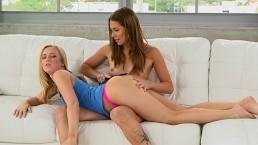 Blonde Teen Bailey Brooke Fantasizes about Pussy Licking Kirsten Lee