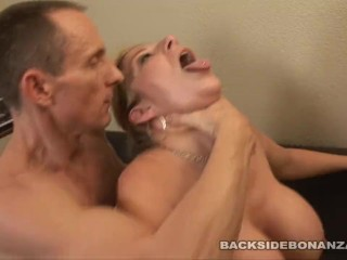 BACKSIDE Slut housewife Sara Jay Fucks plumber while fixing pipes