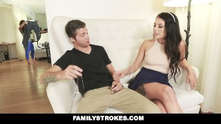 FamilyStrokes - Mom Caught Me Fucking My Step-Sis