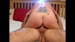 Milf rides cowgirl with anal and facesitting and cumshot