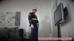USMC Marine Corporal Quinn Jerks Off in Uniform