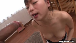 Slobbering fella's dick nozomi rock all over the hard oral view