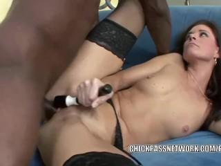 Mature hottie India Summer is fucking a big black cock