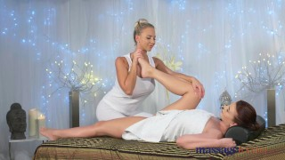 Preview 1 of Massage Rooms Hot 69 and orgasms for horny young big boobs lesbians
