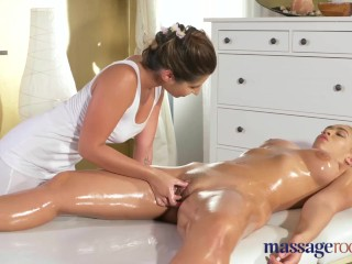 Massage Rooms First time orgasm for hot big ass big boobs lesbian