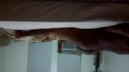 Newark, NJ Teen Practicing His Strokes On Pillow (10-30-2016)