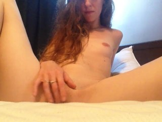 Hot 25 year old, playing with her pussy