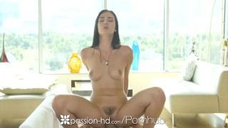 passion hd marley brinx slams dildo in shaved pussy