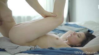 18 Virgin Sex Beautiful Evelyn Gets Her Cherry Popped