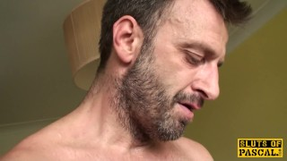 Stalking british submissive throated deeply