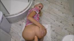 Teen Anal big dick POV sex in bathroom (Helena Moeller)