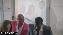 BLACKED - Горячая статусная жена трахает большой чёрный член в супружеской постели
