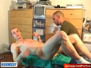 My cock goes hard helped by a guy !