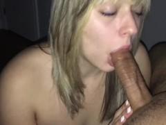 Slutty Teen Sucks Cock and Swallows! HD!