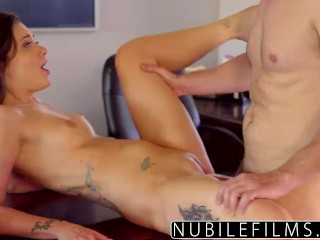 NubileFilms - Сочная брюнетка тверкает на члене