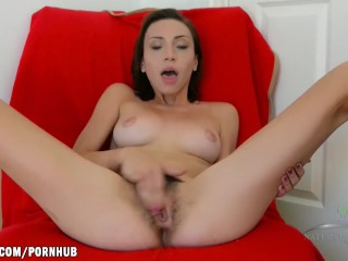 Amber Faye fingers her tight ass and horny hairy pussy