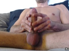 White guy jerking off and cum!