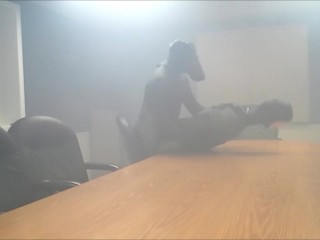 frogman gasses and humps his enemy in the boardroom