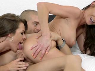 Milf Silvia Saige And Teen Ally Tate Share Big Dick