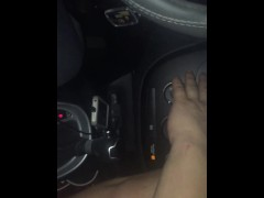 Sucking chubby Latino Uber driver