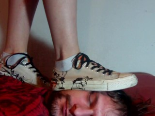 Face trampled by Converse