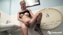 Slim Aden Masturbating In The Bathroom