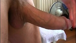 The delivery guy never thought he would show his big cock to us!