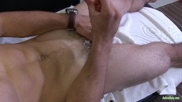 Active Duty: Muscular Recruit Plays with Big Dick