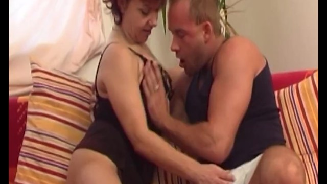 Redhead Mature In Sexy Lingerie Fucks Young Cock 5