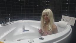 Blonde MiaMaxxx Luxury Tattooed Cover Girl is taking a bath