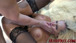 Alena gets some big cock anal gaping!