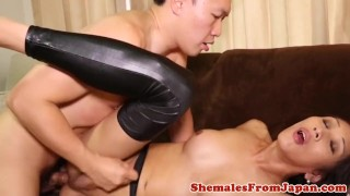 Newhalf in amateur assfucked stockings ladyboy shemale