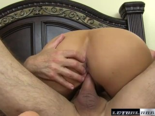 Lacey asks her stepbrother to cum inside her pussy
