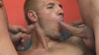 Hot men blowjobs threesome blonde threesome