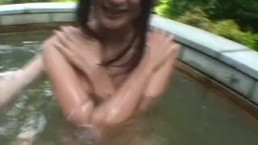 Subtitled Japanese lesbians outdoor hot springs exploration