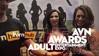 Vitaly ZD at AVN 2016 with Romi Rain and Aria Alexander Interviews porno