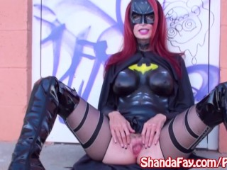 BatGirl Shanda Fay Gives Public Cosplay Blowjob!