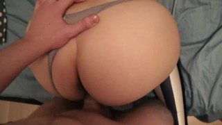 POV and close up sex in leggings and panties