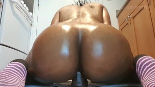 Preview 5 of Ayla - Oiled Ebony Rides BBC Dildo