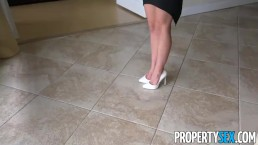PropertySex - Insanely hot real estate agent fucks client on camera