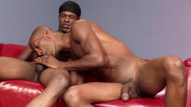 Ebony thug convinces his straight buddy to get fucked by his big cock