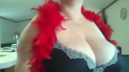 Mommy Katyannmilf is a tease, with huge tits