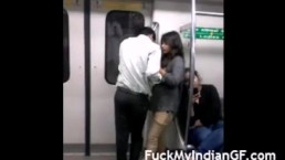 Indian GF Boobs Pressed In Delhi Metro