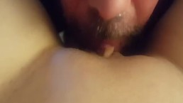 my pussy and clit being sucked