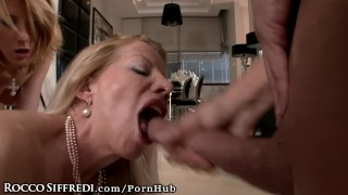 RoccoSiffredi-Intense-Orgy-with-HUGE-Cock-and-Cougar