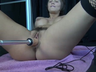 Hot School Girl Squirting With Fuck Machine by Vic Alouqua