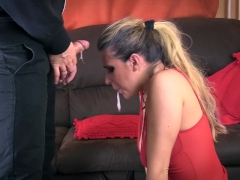 Rough Sloppy Deepthroat FaceFuck Training with helpless sub cute slut.