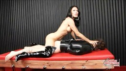 Slave Face-Fucked by Mistress
