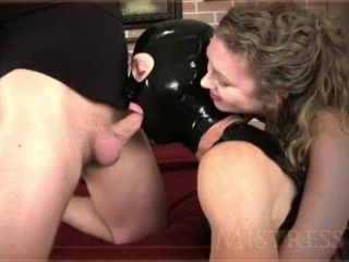 Mistress T - cuck gimp suck cock and licks all